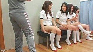 Facial cumshots on asian schoolgirls