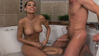 Super cute Czech bathing & fucking her boyfriend
