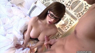 Tiny Spanish chick with huge tits