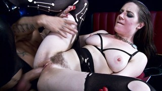 Police woman having anal sex