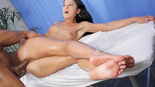 Massage with elements of squirt and blowjob