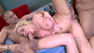 Two horny studs fuck the shit out of Summer Brielle