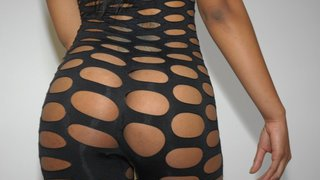 Juicy phat black pussy gets fucked in her brand new outfit
