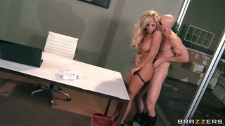 Johnny Sins reaches for the depth of Tasha Reign's vagina