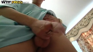 Slim blonde slut Yalena Ester gets has DP session