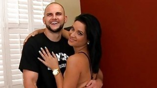 Attractive babe thrills dude with penis riding