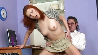 Chick acquires cumshot in her ass from teacher
