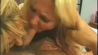 Blonde Grandmas In A Threesome