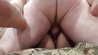 Amateur couple have great fuck and creampie on the couch