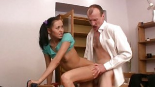 Chick is teachers penis with zealous blowjob