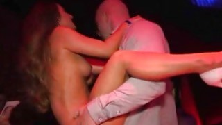 Nightclub pornstars double public blow