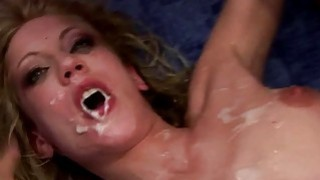 Blonde amateur fucked by a dozen guys