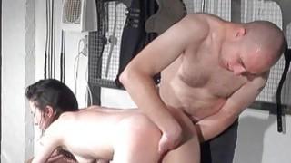 Disciplinary spanking of Faye Corbin in bondage bl
