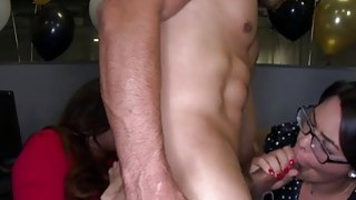 Office girls going wild for blowjob and good licking