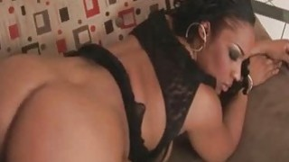 Flame  Black Booty Babe Pleasing A Black Dong