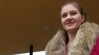 Pretty hot Czech babe screwed in public