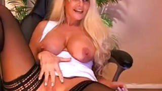 Busty Blonde Mature Fingering