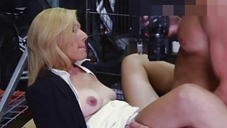 Hot blonde milf banged by pawn keeper
