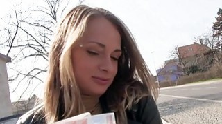 Blonde Eurobabe gets slammed in public