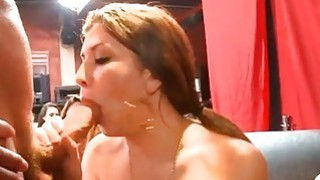 Hot stripper is offering his knob for lickings