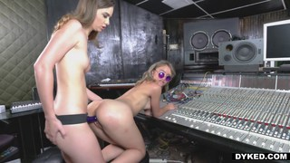 Lesbian bitches fucking in the studio