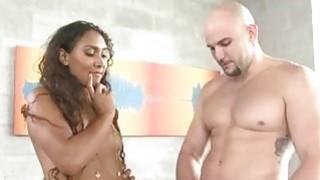 Assed black pornstar fucked at casting