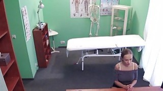 Doctor gets blowjob from busty patient