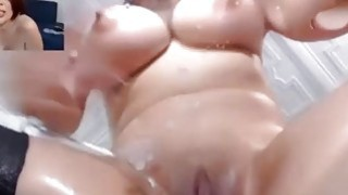 Watch Milf Pop VIBEPUSSY Sensual Toy SQUIRTING Bounce Tits
