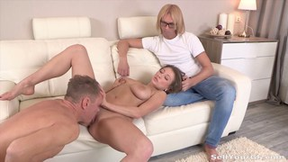 Leza Balezi's cock riding skills save her boy from being fired