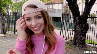 Ultra hot teen Alex Blake gets public dicking for 20 bucks