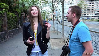PUA video with a European hottie