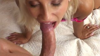 Long tool polishes the twat of kinky blondie Candy