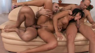 Hot and dirty-minded brunette Simone Peach is pro in pleasing the tools