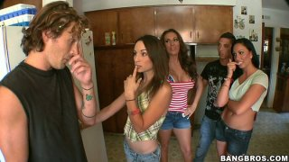 Orgy starters Amber Rayne, Richelle Ryan and Tiffany Brookes get wild
