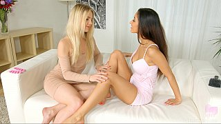 Lesbian foreplay video