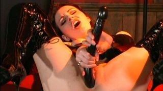 Snow white redhead mistress Monica B stretches her asshole