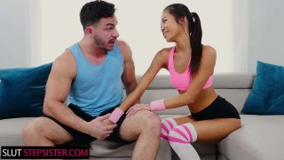 Vina Sky Rides Her Stepbrother's HUGE Cock