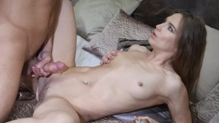 Smoking hot brunette having a nice sensual fuck session with her man