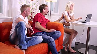 Virgin teen & two horny guys