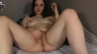 19yo eve 1 legs spread wide clit rubbing
