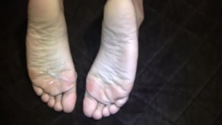 Her First Footjob