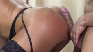 Hot Latina Oiled Up And Gets Fucked Hard