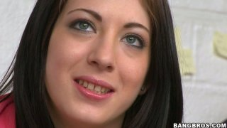 Using lubrication horny Kenna Kane wanks a strong hot cock