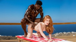 Innocent Looking Redhead Jia Craves Black Cock and Gets it