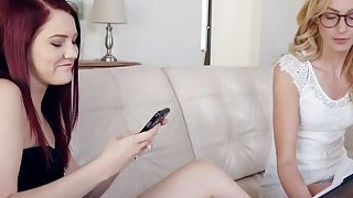 Jewels Jade doesn't want to study but wants to satisfy her sex needs with Alexa Grace