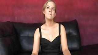 Blonde hottie teen choked by cock