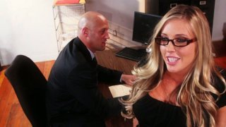 Horny bitch Samantha Saint dreams of having an oral sex with a dream boy