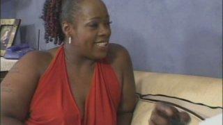 BBW ebony mom Dimples sucks and rides thick black dick