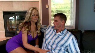 Palatable blonde Darcy Tyler hits on handsome Max Steele