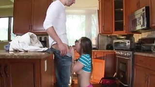 Charming teen Bambi Brooks fucks with a plumber